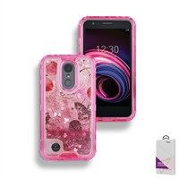 LG Aristo 3/ LG Aristo 2/ LG Tribute Empire Liquid Glitter Quicksand Case HYB26 Design 6