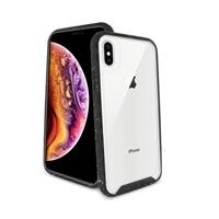iPhone 8 Plus/ 7 Plus/ 6 Plus Paint splatter accent Synthetic rubber+Clear polycarbonate shell HYB31 Black