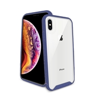 iPhone 8 Plus/ 7 Plus/ 6 Plus Paint splatter accent Synthetic rubber+Clear polycarbonate shell HYB31 Blue
