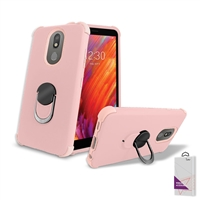 LG Aristo 4+ / Escape Plus/ Tribute Royal/ X320 Hybrid Ring Kickstand Case HYB32 Rose Gold