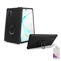 Samsung Galaxy Note 10 Plus Hybrid Ring Kickstand Case HYB32 Black/ Black
