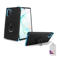 Samsung Galaxy Note 10 Plus Hybrid Ring Kickstand Case HYB32 Black/ Blue
