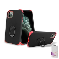 "iPhone 11 Pro Max (6.5"") Hybrid Ring Kickstand Case HYB32 Black/ Red"
