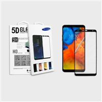 LG Stylo 5/ LG Stylo 5 Plus ThinQ Full Screen Tempered Glass Screen Protector 5D Edge Black