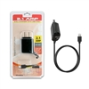 For Apple Lightning Travel Wall Charger 2.1 Amp w/USB port,  5ft, 4mm, Black