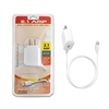 2.1 A MICRO USB HOME Charger with Extra USB White