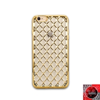 iPhone 5 / 5S / 5SE TPU Lattice Electroplate Gold