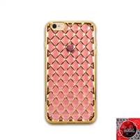 iPhone 5 / 5S / 5SE TPU Lattice Electroplate Rose Gold