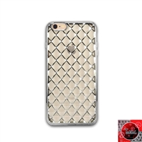 iPhone 5 / 5S / 5SE TPU Lattice Electroplate Silver
