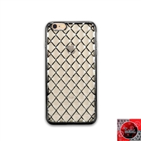 iPhone 6 Plus / 6S Plus TPU Lattice Electroplate Black