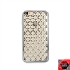 iPhone 6 Plus / 6S Plus TPU Lattice Electroplate Silver