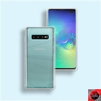 For Samsung Galaxy S10 Crystal Clear White TPU 05 Case