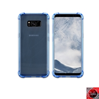 For Samsung Galaxy S8 Crystal Clear Blue TPU Case