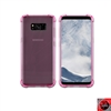 For Samsung Galaxy S8 Crystal Clear Pink TPU Case