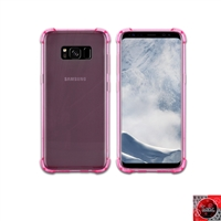 For Samsung Galaxy S8 Plus Crystal Clear Pink TPU Case