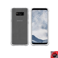 For Samsung Galaxy S8 Crystal Clear White TPU Case