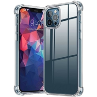 "iPhone 11 Pro Max 6.5"" Crystal Clear White Bumper Corner TPU Case"