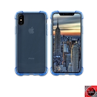 iPhone X Crystal Clear Blue TPU Case