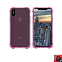 iPhone X Crystal Clear Pink TPU Case