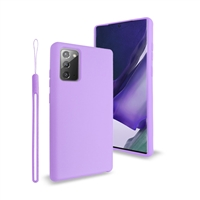 Samsung Galaxy Note 20 Ultra Liquid Silicone Gel Skin Case Purple