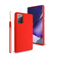 Samsung Galaxy Note 20 Ultra Liquid Silicone Gel Skin Case Red