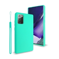 Samsung Galaxy Note 20 Ultra Liquid Silicone Gel Skin Case Teal