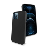 iPhone 12/ iPhone 12 Pro Liquid Silicone Gel Skin Case Black