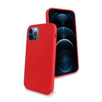 "iPhone 12 Mini 5.4"" Liquid Silicone Gel Skin Case Red"