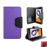 Alcatel REVVL /A30 Fierce/ Walters/ 5049 Leather Wallet case WC01 Purple