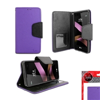 LG TRIBUTE HD / LS676 WALLET CASE PURPLE
