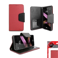 LG TRIBUTE HD /  LS676 WALLET CASE RED