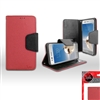 LG ARISTO / MS210 WALLET CASE WC01 RED