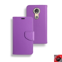 Motorola Moto E5 Plus/ Moto E5 Supra /XT1924 Leather Folio Wallet Case WC01 Purple