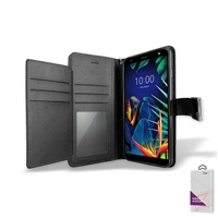 LG K40 Double Folio Leather wallet case,