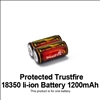 Trustfire Protected Rechargeable 18350 1200mAh Li-ion Battery