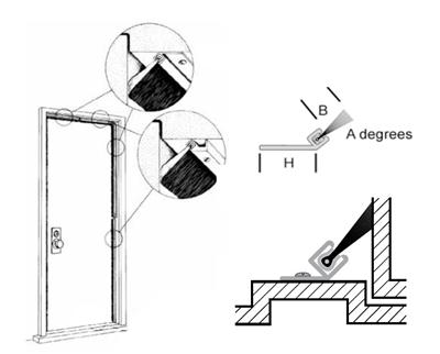 Door Jamb Weatherseal Kit For 3' x 7' Door, Clear/Silver