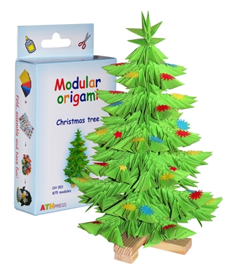 Modular Origami Kit - Christmas Tree