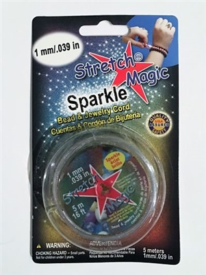 Stretch Magic Cord Silver Sparkle 1mm
