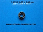DENTAL BEARING FOR W&H SABRA SMALL; 200'S,290/ 300'S,390, 393, 395, 695