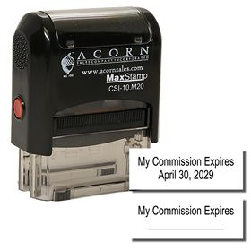 Self Inking Commision Expiration Stamp