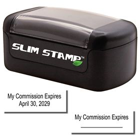 Slim Pre-Inked Commission Expiration Stamp