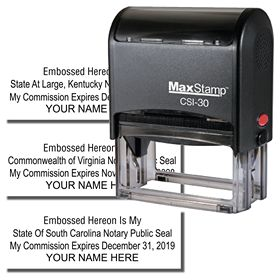 Self Inking Embossed Hereon Stamp