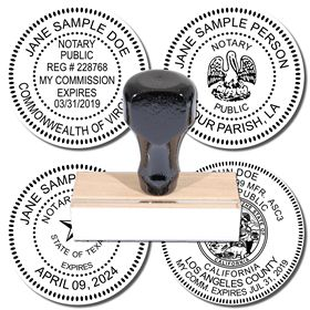 Regular Rubber Stamp of Notary Public Seal