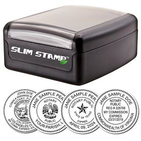 Slim Pre-Inked Stamp of Notary Public Seal