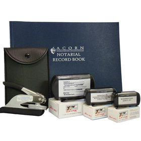Soft Pocket Seal Deluxe Notary Package with Slim Stamps