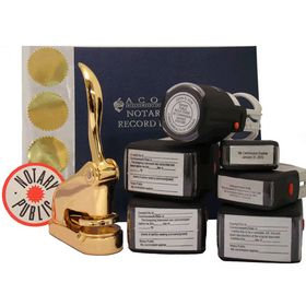 Supreme Gold Notary Seal Package with S/I Stamps