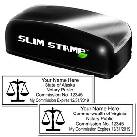 Slim Pre-Inked Notary Scales of Justice