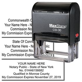 Self Inking Commission ID Stamp