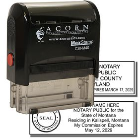 Self Inking Combination Stamp