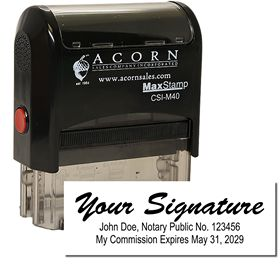 Self Inking Signature ID Stamp